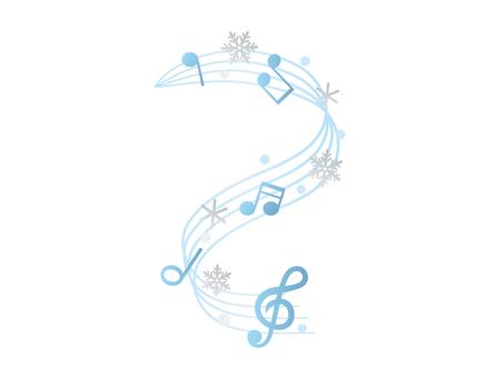 Winter music material 3