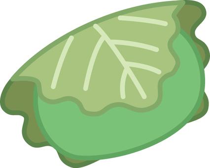 Kashiwa cake (green)