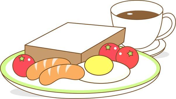 Breakfast, food and coffee