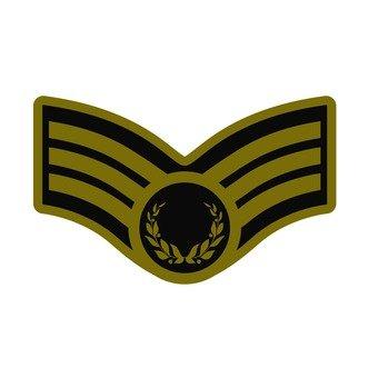 Patch - car emblem (gold)