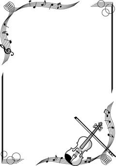 Violin monochrome frame