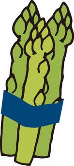 Vegetables (3 asparagus)