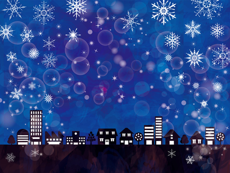 Background Night scenery Illuminations Glitter townscape