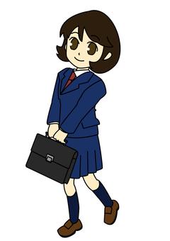 교복 소녀