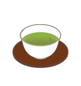 Green tea bowl tea column