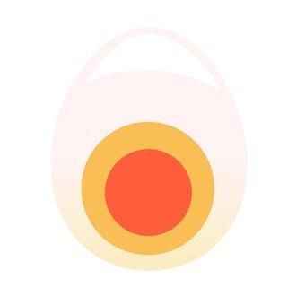 Boiled egg egg