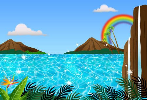 ハワイアンポストカード  風景
