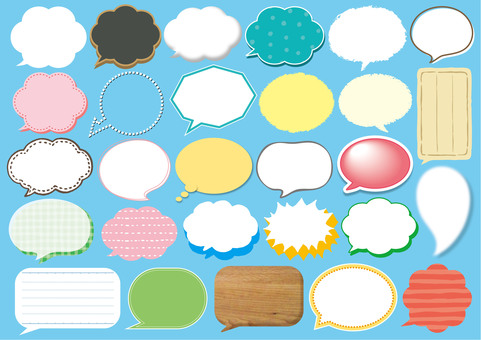 Speech bubbles various 2