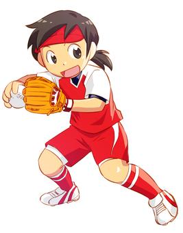 Softball Defense Uchino