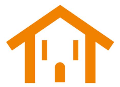 Housing Smile Mark Orange