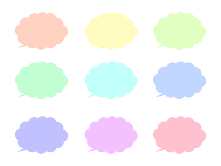 Pastel color speech bubble