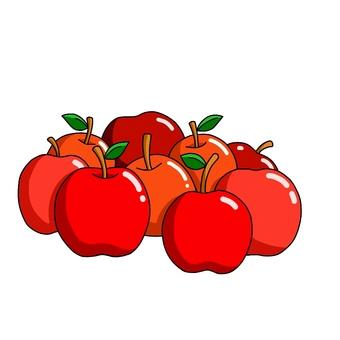 많은 사과