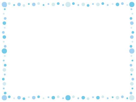 Polka dot frame light blue