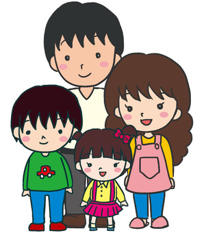 4 people family