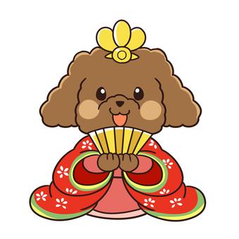 【3月】トイプードルのお雛様
