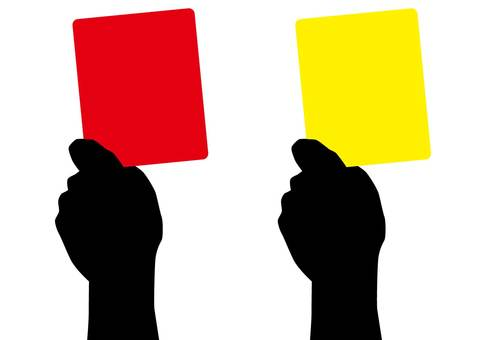 Red card and yellow card