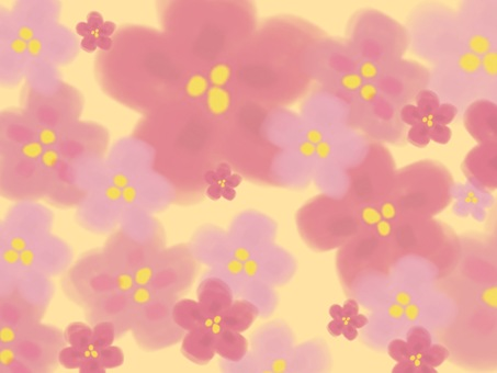 Sakura background yellow