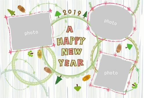 New Year card _ Frame Ya 05