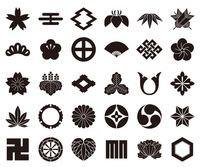 和のアイコン・家紋セット