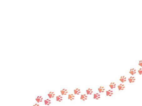 Footprint animal trace