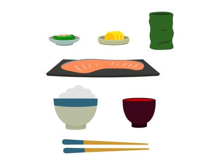 鮭 Set meal rose