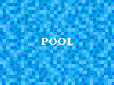 Cool pool tile with fluttering water surface
