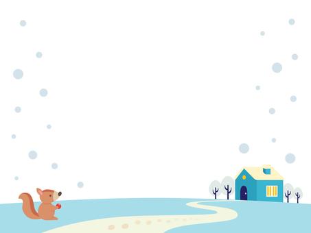 겨울 풍경 일러스트 (8)
