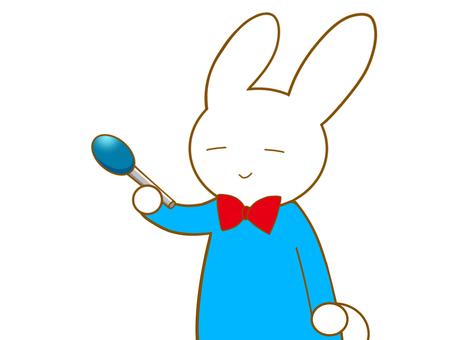 マイクを持ったウサギ