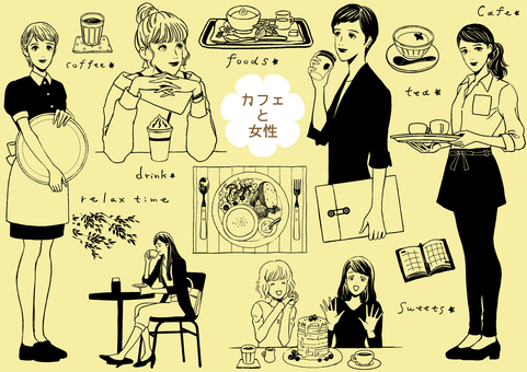 Cafe and ladies