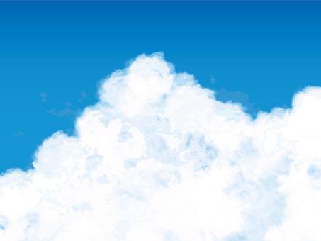背景シンプルシルエットフレーム枠空入道雲