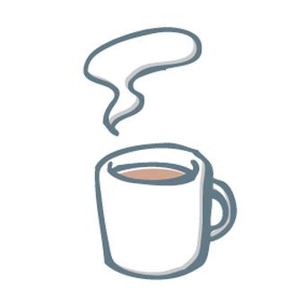 Hand-drawn illustrations of mugs