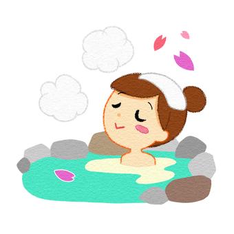 Spring hot spring