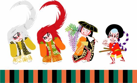 歌舞伎三頭身キャラクター