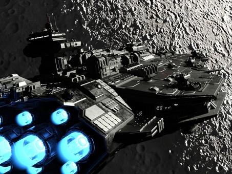 宇宙戦艦と月