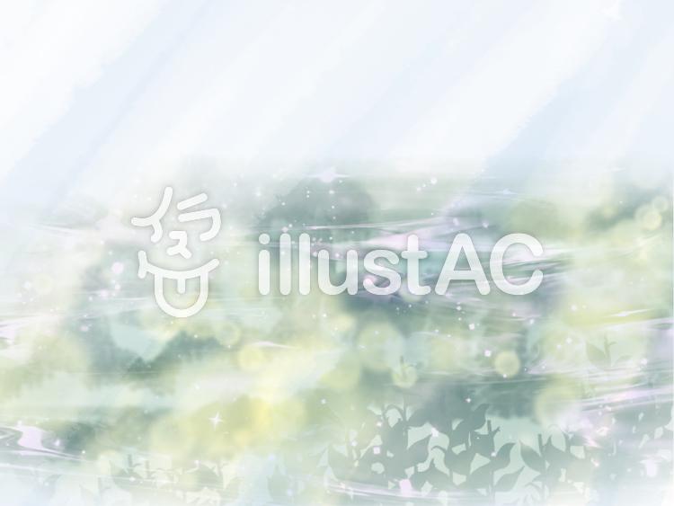 キラキラ水辺(光)のイラスト