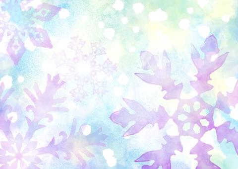 Watercolor snowflake