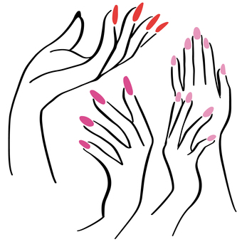 Hand showing nail