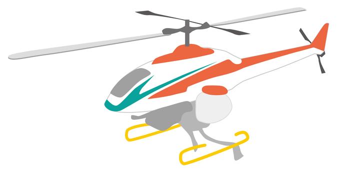 Radio control helicopter pesticide spraying