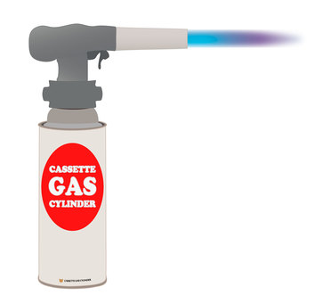 Gas burner (flame)