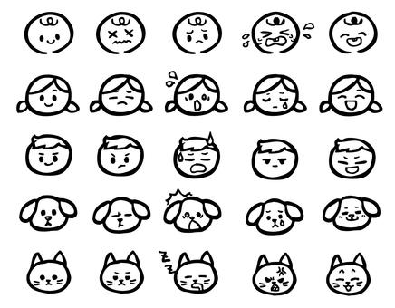 Facial expression monochrome