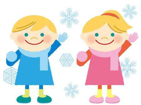 Winter clothes children
