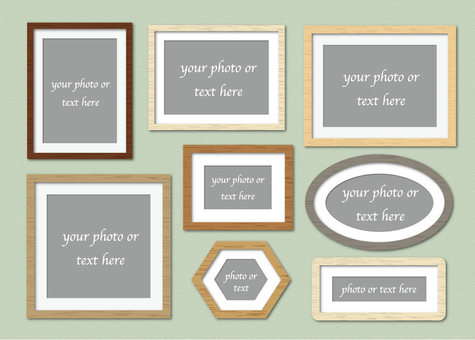 Crate frame photo frame