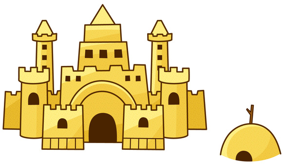 Sand Castle (with lines)