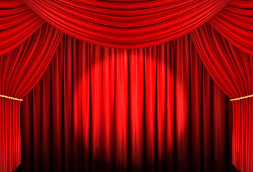 Red curtain 02 Spot light
