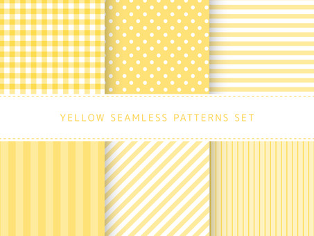 Yellow seamless pattern set