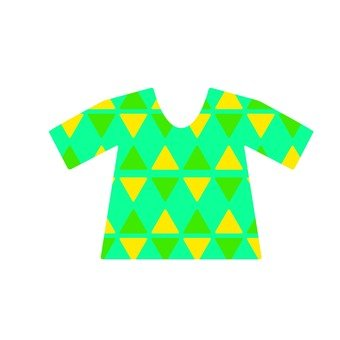 T-shirt · triangle pattern