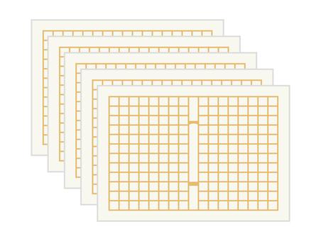 5 sheets of original paper