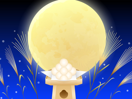 Full Moon · Moonlight dumpling · Susuki background