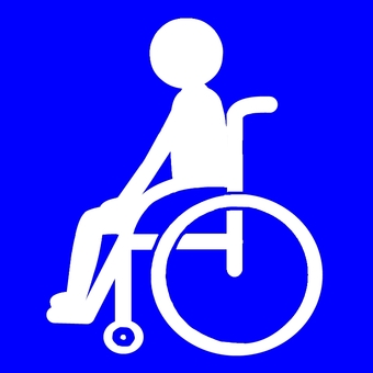 Pictogram wheelchair assistance
