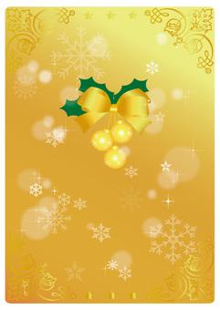 圣诞卡片黄金